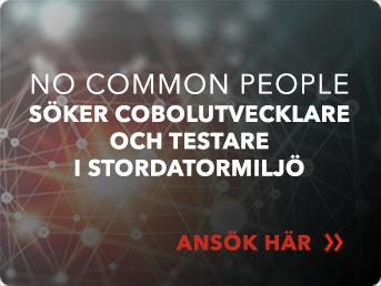 No Common People söker Cobolutvecklare och testare i stordatormiljö